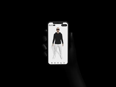 QLO - 3D app mobile interface ux ui simplicity minimalism responsive design interactive design threejs webgl 3d ui mobileui uidesign uiux 3d blender3d
