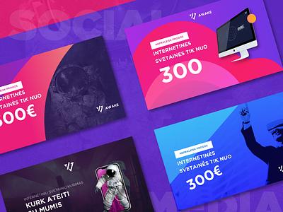 Social media for web agency typography type vector illustration logo advertisement social media design branding