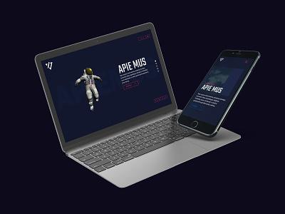 Explore virtual space parallax animation website astronaut space awwwards webgl threejs interaction webdeisgn cg art app ux ui 3d design