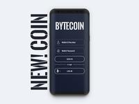 Bytecoin Wallet App UI Design