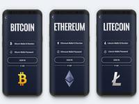 Bytecoin Wallet App UI Design (Login Page)