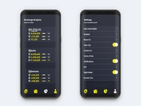 Bytecoin Wallet App UI Design (Home-sub Page)