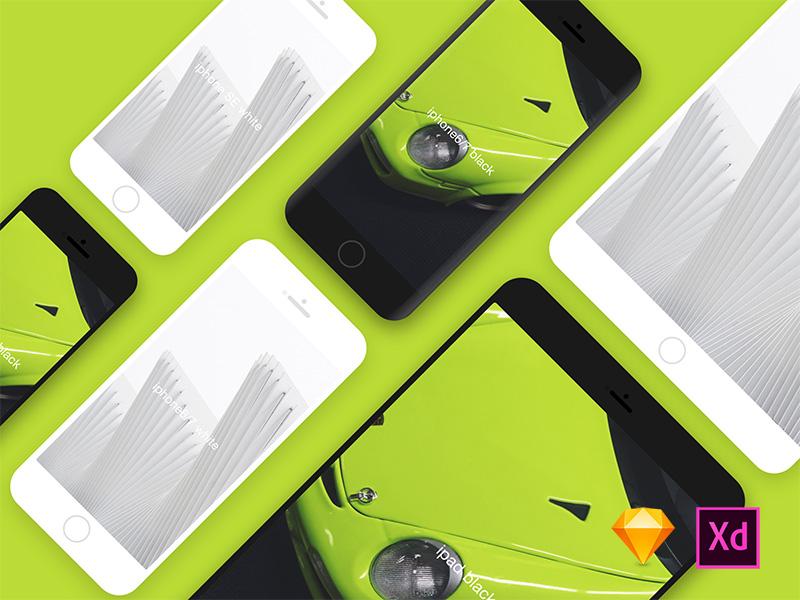 Iphone&Ipad mockups xd adobe sketch ipad iphone mockups