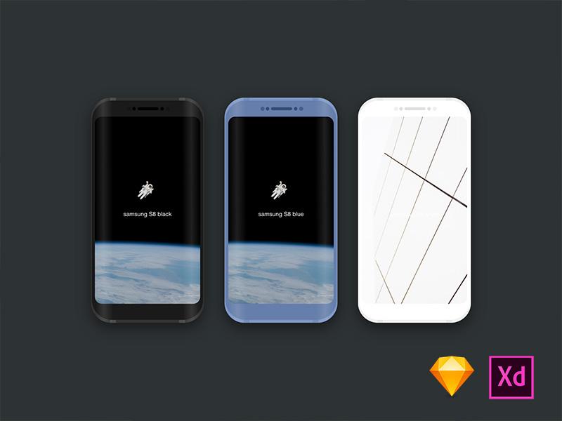 Galaxy S8&Tablet xd adobe sketch galaxy samsung mockups