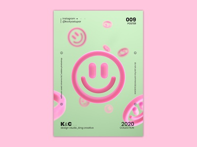 Poster_009 | KC™ typographyposter smile 3d illustration abstract poster design