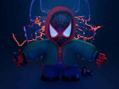 Spider-Man | Miles Morales art cg cinema4d comics mailesmorales marvel spiderman illustration 3d