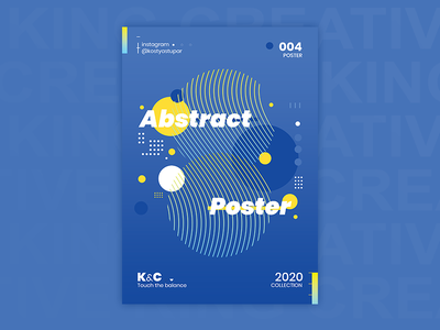 Abstract poster_04 | KC photoshop memphis neogeo character poster abstract design drawing illustration