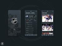 NHL App Redesign Concept (Updated) sharks ux trends uiux ui trends stanley cup sports app sports sport sketch skate nhl hockey dark theme dark mode dark ui app design inspiration ux ui design