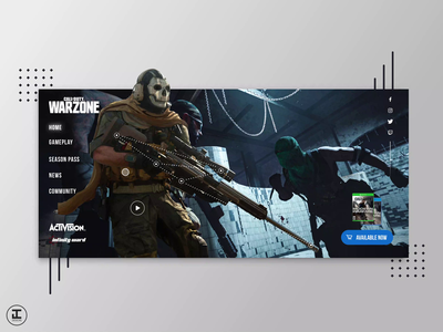 Call of Duty Warzone Design Concept call of duty warzone warzone photoshop videogames ui trends ux trends after effects sketch battle royale gaming website gaming gamer game design game art call of duty modern warfare call of duty design inspiration ux ui design