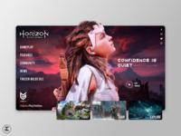 Horizon Zero Dawn - Website Concept sony ps4 uiux webdesign gaming website ux trends ui trends photoshop video games xbox playstation horizon zero dawn horizon gaming videogames sketch design inspiration ux ui design