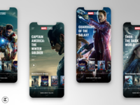 MCU App Concept: Winter Soldier, Guardians of the Galaxy (#9,10)