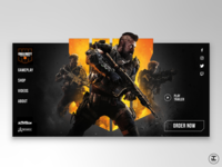 Call of Duty Black Ops 4 Home Screen Redesign Concept