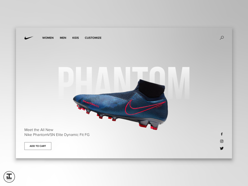 Nike Phantom Soccer Cleat Design Concept (Pt. 1) proxima nova shop phantom concept ui inspiration cleats cleat shoes nike soccer web  design web illustrator ux ui design