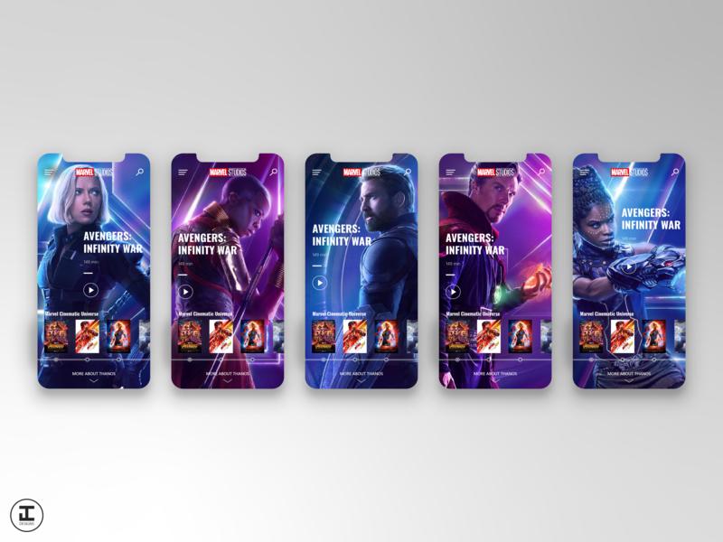 MCU App Concept: Avengers: Infinity War (#19) infinity stones thanos illustrator marvel comics movie app movie infinity war avengers infinity war avengers shot superhero mcu marvelcinematicuniverse marvel app mobile ux ui design