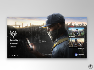 Watch Dogs 2 Video Game Site - Redesign Concept