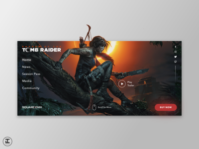 Shadow of the Tomb Raider - Web Redesign Concept