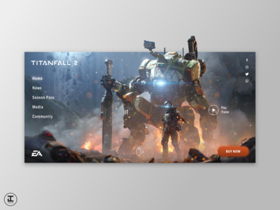 Titanfall 2 - Web Redesign Concept