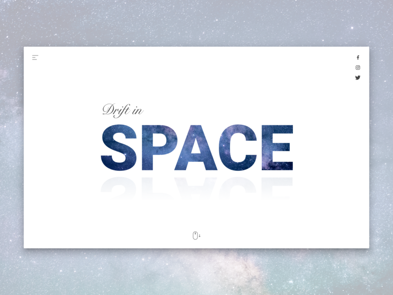 Drift in Space user inteface design inspiration ux trends ui trends constellation concept drifting drift nebula stars star space dribbble webdesign sketchapp sketch app ux ui design