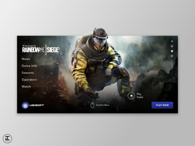 Tom Clancy's Rainbow Six Siege - Web Redesign Concept