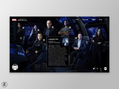 Agents of S.H.I.E.L.D. - Website Concept