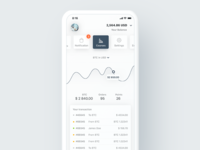 Cryptocurrency Courses Screen for Financial iOS App
