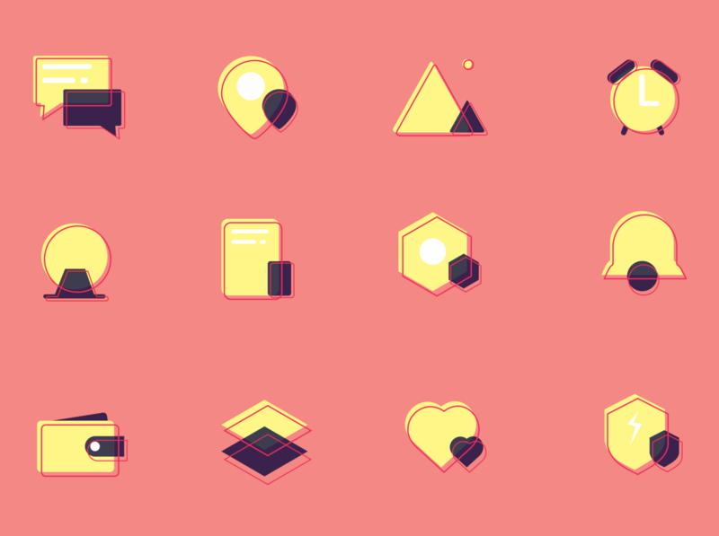 Different Colour Icon