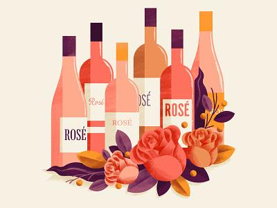 Rose editorial rose wine winery valentine texture sho studio illustration sail ho studio valentines day