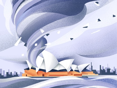 See the world in 2050 sydney opera house wind hurricane storm typography united nations sydney climate change poster sho studio illustration sail ho studio