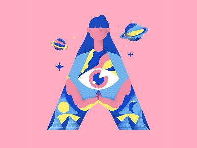 Lettera40 - A coronavirus covid19 typography colors vector sho studio illustration sail ho studio