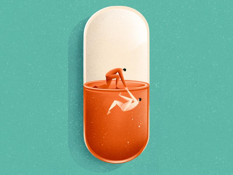 Hope in crisis - The opioids epidemic illustrator hope drugs opioids health cover illustration cover editorial illustration editorial texture sho studio illustration sail ho studio