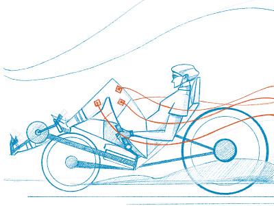 Pulse Racing - VU Amsterdam procreate injury university rehab disability exercise racing bike sho studio illustration sail ho studio