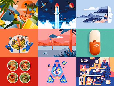 Best nine 2020 logo gradient motion design animation 2020 bestnine best nine colors vector illustration sho studio sail ho studio