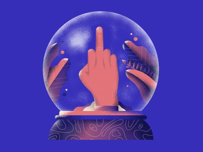 The end of 2020 hand middle finger snowball 2020 texture colors vector sho studio illustration sail ho studio