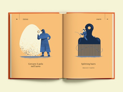 Splitting hairs hair sherlock holmes detective egg proverbs illustrated book book texture colors vector sho studio illustration sail ho studio
