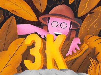 3K followers 3k thanks explorer texture vector sho studio illustration sail ho studio