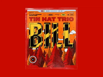 Tin Hat Trio - Bill music art motion graphics motion design spotify cover spotify glare animated typography typography rhox bashbashwaves clouds birds song cover music colors vector sho studio sail ho studio