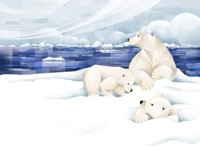 The Price of Extinction - Polar bear polar bear nature earth climate change environment save the planet sho studio illustration sail ho studio
