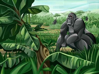 The Price of Extinction - Gorilla ticket nature save the planet environment earth gorilla jungle climate change sho studio illustration sail ho studio