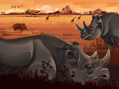 The Price of Extinction - Black rhino ticket earth illegal hunting climate change savana rhino black rhino environment nature sho studio illustration sail ho studio