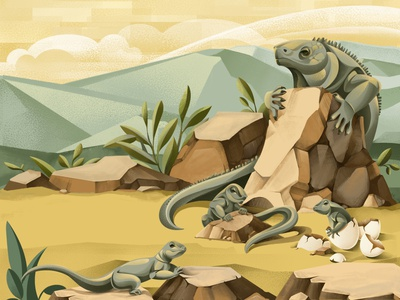 The Price of Extinction - Iguana nature ticket save the planet earth iguana environment climate change sho studio illustration sail ho studio