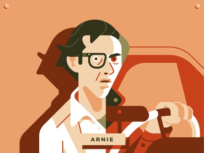 Arnie from Christine horror 80s christine movie character john carpenter flat vector sho studio illustration sail ho studio