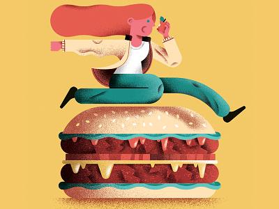 Diet obstacles vector diet jump burger editorial illustration editorial illustration shostudio sailho studio