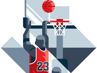 Michael Jordan - Rivista Ufficiale NBA #100 sho studio sailho studio illustration editorial magazine official basketball nba jordan michael