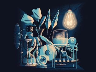 IZ - Il desto Onironauta Album Cover jazz album album cover astronaut dream light music room texture vector sho studio illustration sail ho studio