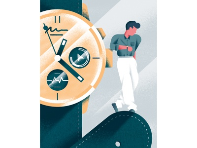 Il Sole 24 Ore - Luxury watches editorial illustration editorial luxury time wrist watch texture colors vector sho studio illustration sail ho studio