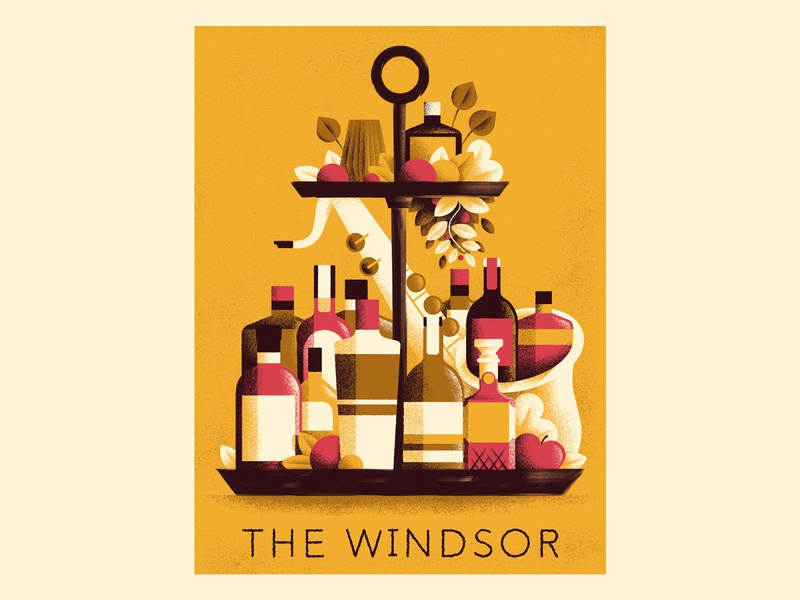 The Windsor Jazz  bar - Poster posters bottles poster jazz poster jazz texture editorial illustration editorial colors vector sho studio illustration sail ho studio