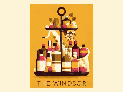 The Windsor Jazz  bar - Poster posters bottles poster jazz poster jazz texture editorial illustration editorial colors vector sho studio illustration sail ho studio