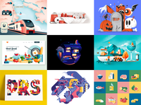 Illustrations best nine 2019