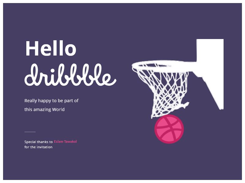 Bara'a Hello Dribble new design ui ux