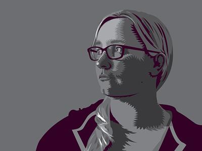 Self Illustration realistic aleksey rico inspired shades vector illustration